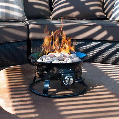 Portable Propane Fire Pit Firebowl Campfire Party Patio Outdoor Camping Tabletop