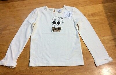 NWT janie and jack Toddler Girl Long Sleeve Shirt, Size 4