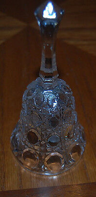 Vintage Crystal Clear Glass Bell 24% Lead Crystal Made In Taiwan