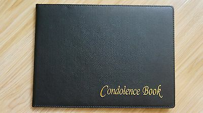 Funeral Guests Remembrance Memorial Guest Book Black Gold condolence book