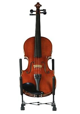 NEW black metal violin viola display stand expandable to all sizes free postage