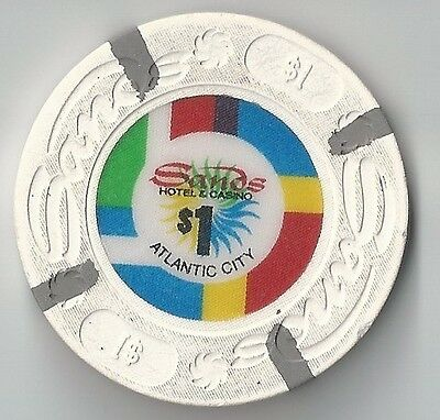 $1 Atlantic City 1St Edt Sands Casino Chip Closed Knocked Down House Mold