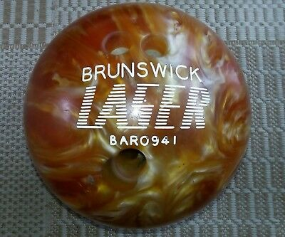 Bowling Ball~Brunswick Laser~Bar 0941~Used~Drilled~Ten Pin Bowling Sport~Spares