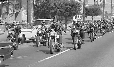 Hells Angels Sonny Barger Leads Funeral San Francisco Glossy 8x10 Photo