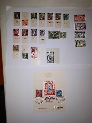 timbres Luxembourg occ allemande 1940 série complete + autres MNH**