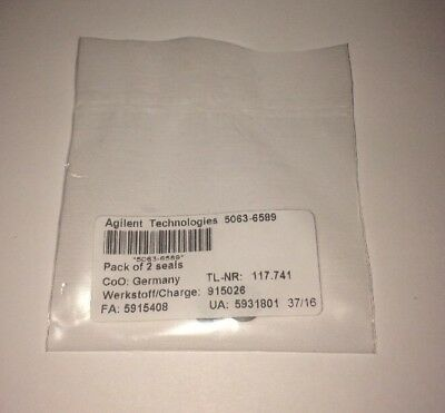 New HP / Agilent 5063-6589, Plunger Seals Used w. G1311 A/B/C 2/Pk