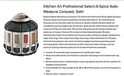 Kitchen Art Professional Spice Auto-Measure Carousel, 12 Herbs Cups Containers