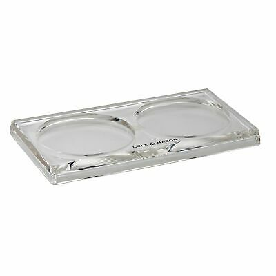 NEW COLE AND MASON SALT AND PEPPER ACRYLIC TRAY Plate Tidy Holder