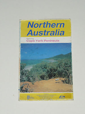 NORTHERN AUSTRALIA Featuring CAPE YORK NT MAP ~ Vintage 80s Top End Road Trip