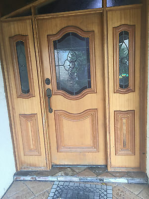 Entrance Door with side panels.