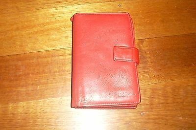 Red Genuine Leather COLORADO Ladies Wallet/Purse -Lots of Compartments