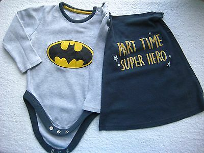 Batman Babygrow With Cape,  9-12 Months