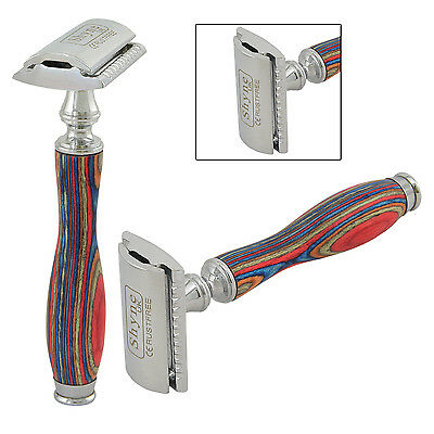 Printed Wooden Handle Safety Razor double edge shaving blades shaver