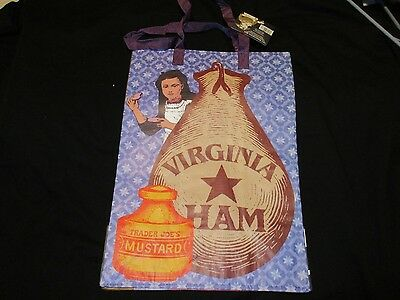 TRADER JOE'S  Shopping Bag Grocery  REUSABLE VIRGINIA  RARE