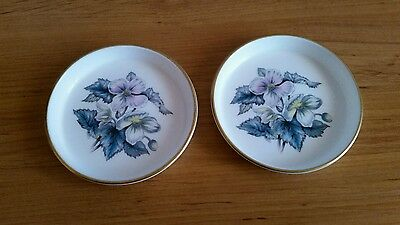 Pair of Royal Worcester Floral Pin Dishes