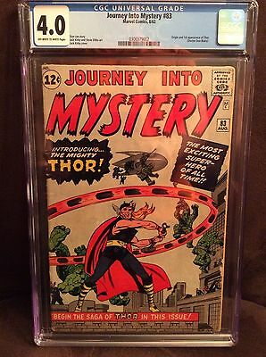 Journey into Mystery #83 (Aug 1962, Marvel) CGC 4.0 OW/W 1st appearance Thor Lee