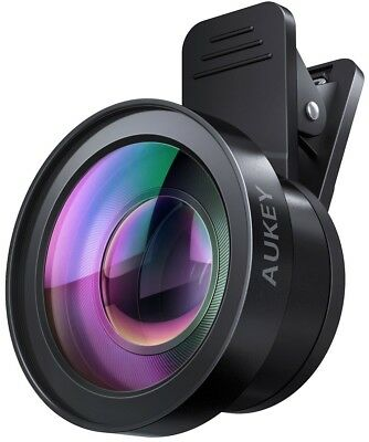AUKEY Lens Kit 2 In 1 Clip On With 0.45X Wide Angle + 15X Macro Lens For IPhone