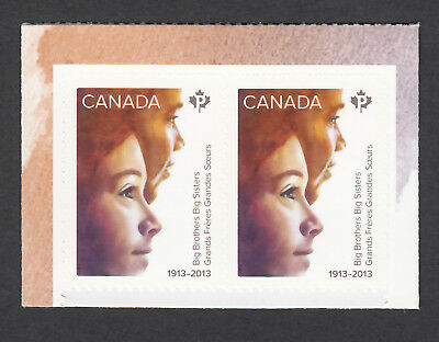 ca. BIG BROTHERS BIG SISTERS, Boy & Girl Pair from Booklet Canada 2013 #2645