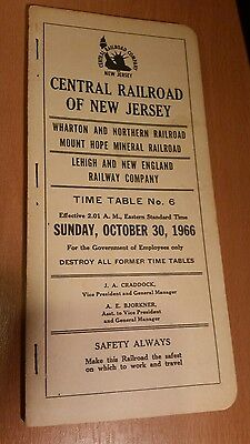 1966 Central Railroad of New Jersey, Timetable No.6