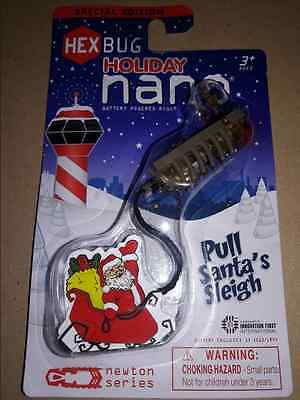 Hex Bug Holiday Nano Pull Santa's Sleigh Special Edition Christmas NEW NIP