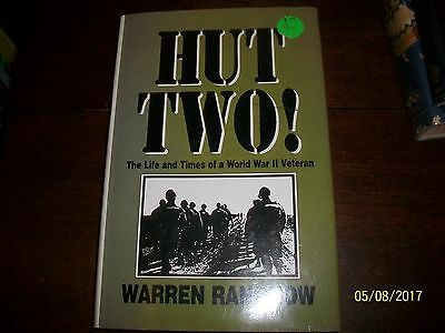 Hut Two Warren Rangnow 1st Edition, signed by the author HB/DJ WW 2 Bulge