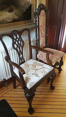 18th Century Style Mahogany Chippendale Carver Chair