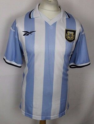 Marc #10 Vintage Argentina Home Football Shirt Reebok Rare 99-00 Mens Large