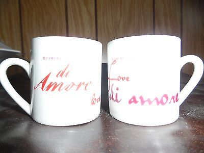 Two Shot mugs-- di Amore Love--excellent condition