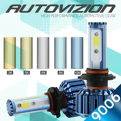 AUTOVIZION LED HID Headlight kit 9007 HB5 White for 1992-2000 Plymouth Voyager