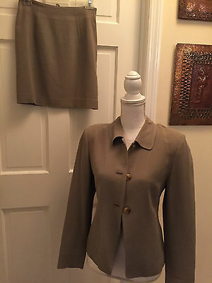 Country Road Size 4  Brown 2/PC Jacket Skirt Suit Made in Australia