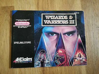 * Wizards and Warriors III * PAL B - NES Original Anleitung - kein Modul / OVP