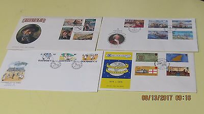 Eight Unaddressed First Day Covers Guernsey Very Nice