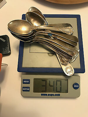 340 g of scrap silver (14 assorted spoons)