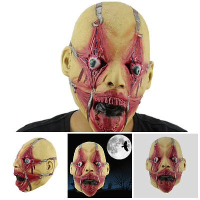 Scary latex Halloween mask Oldadult  party decoration