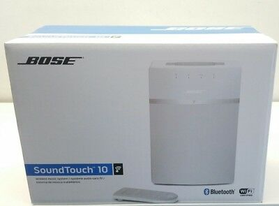 BOSE SOUNDTOUCH 10 WIRELESS Wi-Fi & BLUETOOTH SPEAKER - WHITE. NEW IN BOX
