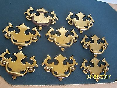 8 KBC 8650 Solid Brass Colonial Chippendale Draw Pulls Handle Dresser Chest 8