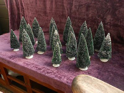Lot of 18 Dept 56 Christmas Village Trees