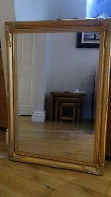 Antique French Gold Framed Foxed Mirror