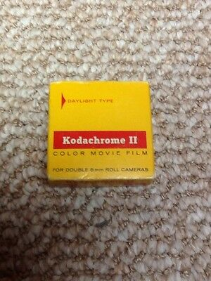 Kodak double 8 mm Kodachrome II color movie film unopened expired Dec 1972