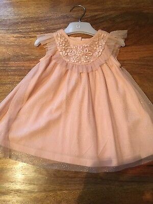 Beautiful Baby Girls Next  Dress Stunning Design And Material Age 3-6 Months