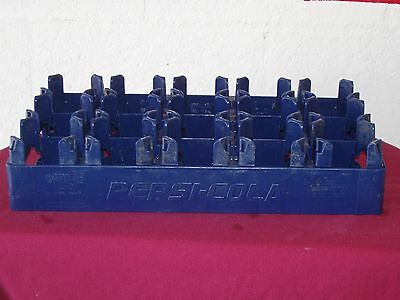 Pepsi Cola Plastic Blue Crate Carrier 15 - 1 Liter Bottles  Huskylite