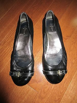 Cole Haan Women's Black Patent Leather Ballet Flat Shoe Size 9.5 Pre-Owned