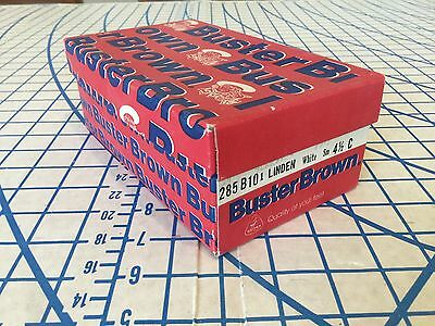 Vintage Buster Brown Child's Shoes Box Red with Blue and white logo