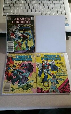 Transformers comic magazine, issues 3, 4, and 5