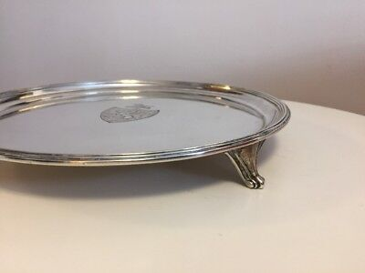 Antique George III Sterling Silver Salver English ELIZABETH JONES 1790's