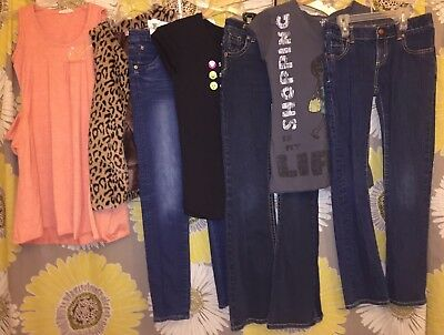 Girls Back To School Clothes Lot Sz 12 Justice Hudson Beautees Old Navy Peek EEC