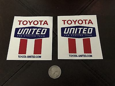 2007 Toyota UNITED Pro Cycling Team Sticker Set
