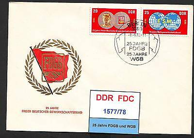 DDR-FDC 1577-1583, gestempelt, s. scan