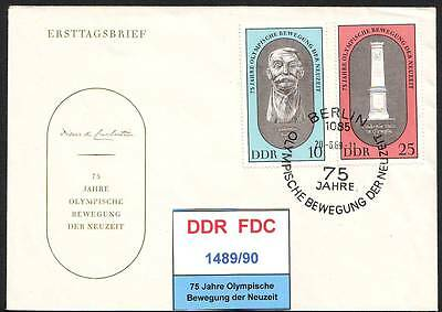 DDR-FDC 1489-1493, gestempelt, s. scan