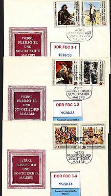 DDR-FDC 1528/33, gestempelt, s. scan
